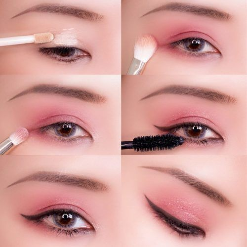 Pink Eye Makeup Look With Eyeliner #pinkshadow #makeuptutorial