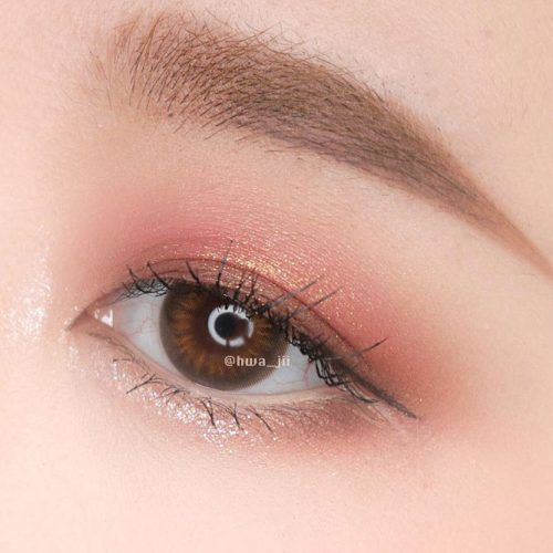 Rose Gold Eyes Makeup #rosegoldshadow
