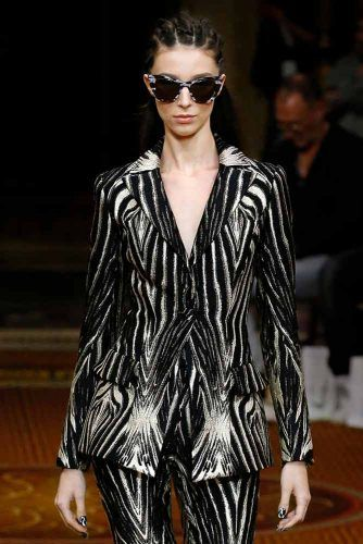Christian Siriano Zebra Print On New York Fashion Week #christiansiriano #zebraprint #animalprint