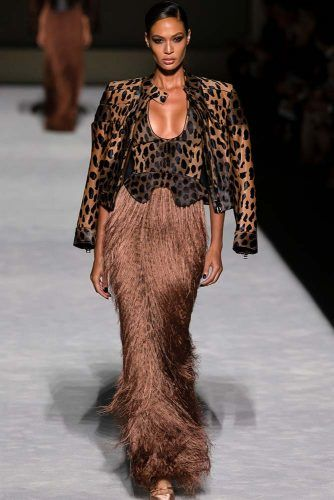 Tom Ford Animal Print On New York Fashion Week #animalprint #leopardprint #tomford