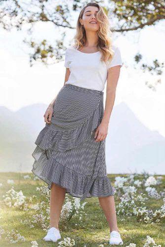Wrap Around Skirts #stripedskirt