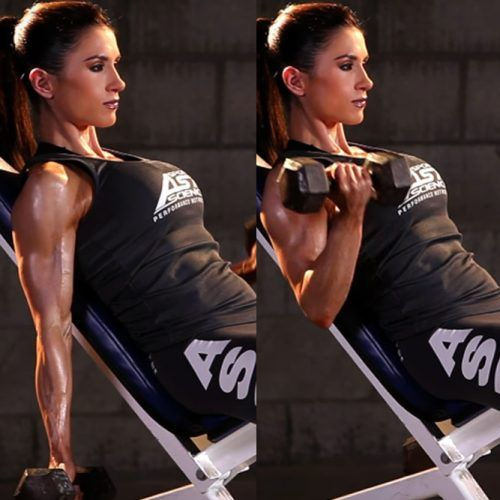 Incline Dumbbell Curl #inclinedumbbellcurl