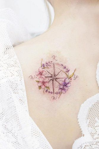 Small Watercolor Tattoo On Back #watercolortattoo
