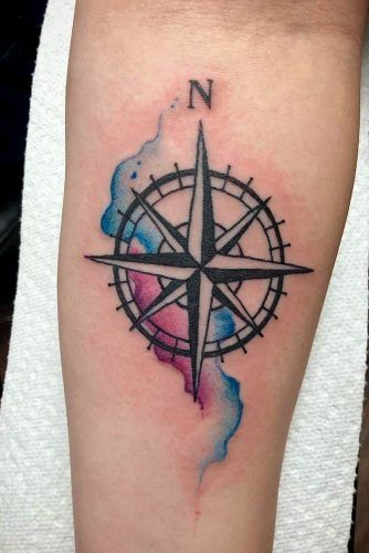 Simple Forearm Watercolor Tattoo #watercolortattoo