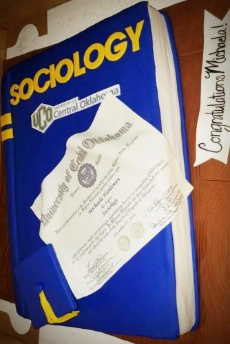 Sociology Graduation Cake #subjectcake #bookcake