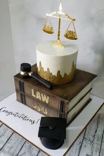 Custom Cake For A Law Graduate #bookcake #lawcakeidea