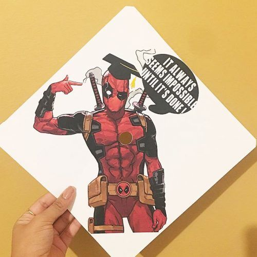 Dead Pool Graduation Cap #deadpool #whitegraduationcap
