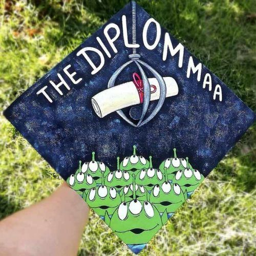 Funny Graduation Caps #paintedgradcap