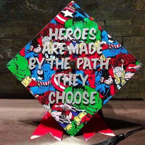 Marvel Graduation Cap #marvelgradcap #heroesgradcap