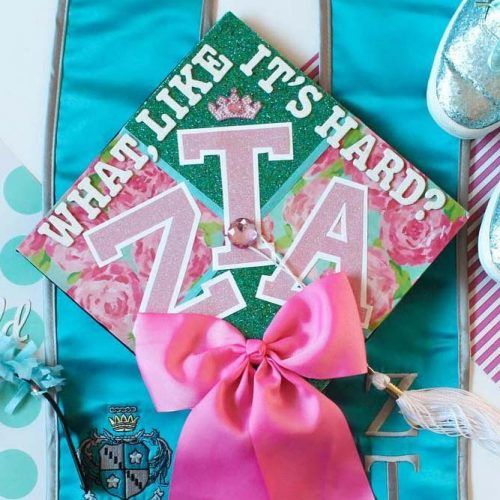 Sisterhood Graduation Cap Idea #graduationcapwithbow