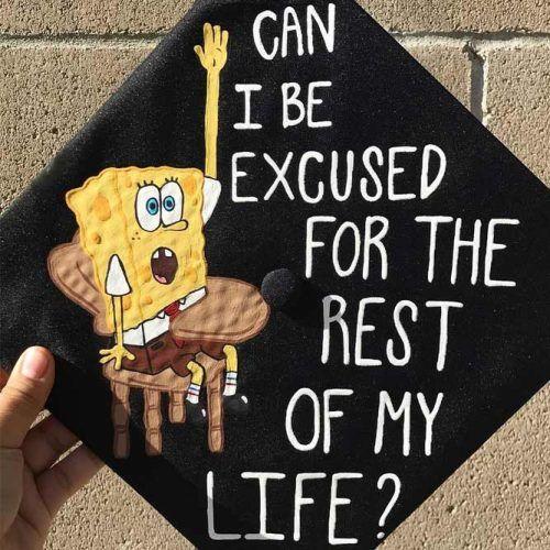 Spongebob Graduation Cap #spongebob #funnygradcap