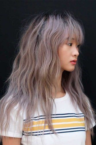 Messy Waves + Thin Fringe #messywavyhairstyles #longhair