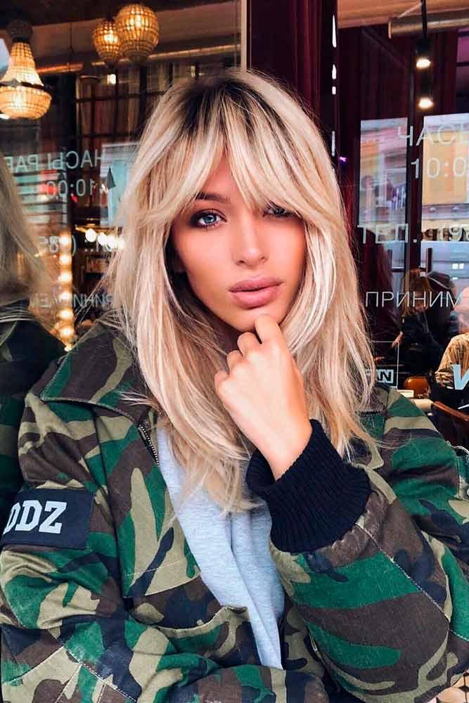 Short Forehead #blondehair #longhairstyles
