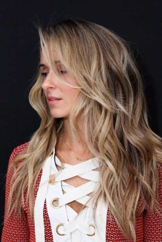 Long Side Layers #sideswepthair #longhairstyles