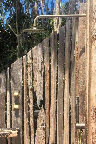 Rustic Garden Shower #rusticshower