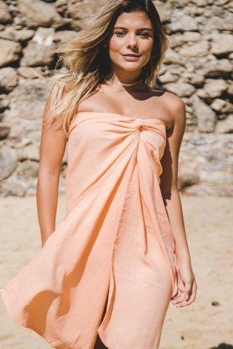 Bandeau Style #beachdress #peachsarong