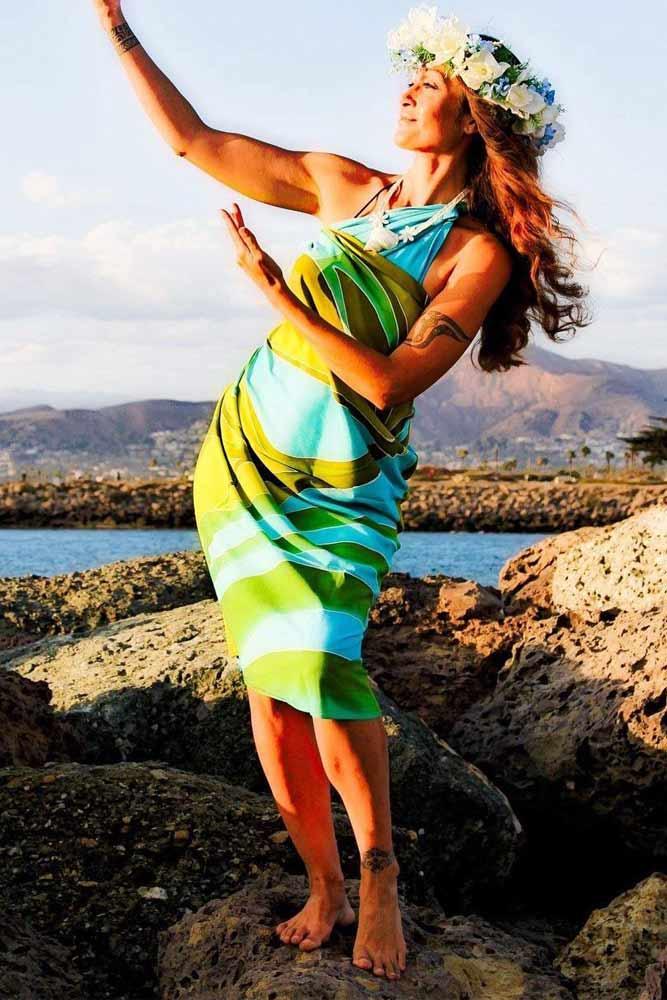 Wear As A Wrap Dress #shoulderwrapsarong
