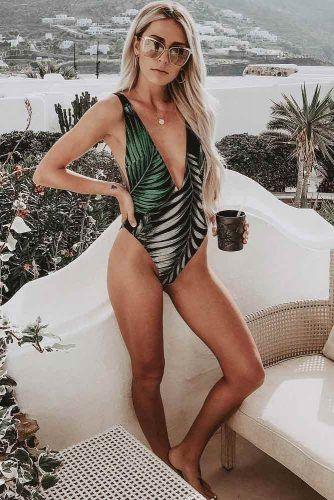 Monokini Bikini #monokini #printswimsuit