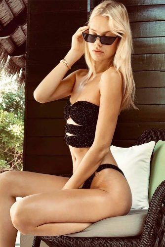 Textured Bikini #black #texturedeswimsuit