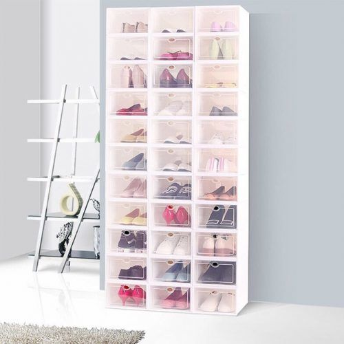 Shoe Box Storage #plasticshoebox