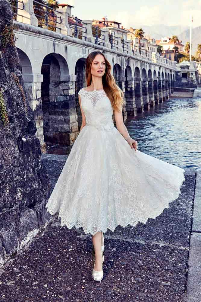 Lace Wedding Dress With Cap Sleeves #lacewedingdress #capsleevesdress