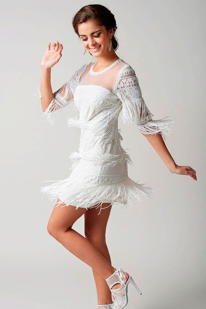 Cool Bohemian Dress With Fringe #bohoweddingdress #fringedress