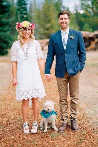 Bohemian Lace Short Wedding Dress #bohoweddingdress #bohemiandress