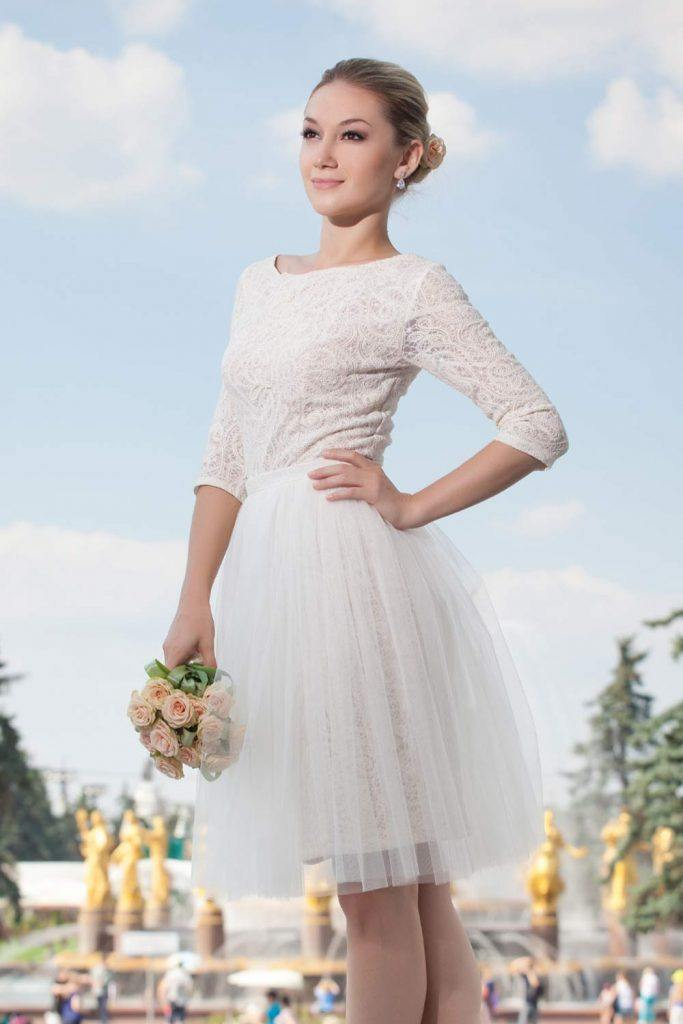 Simple Short Wedding Dress Design