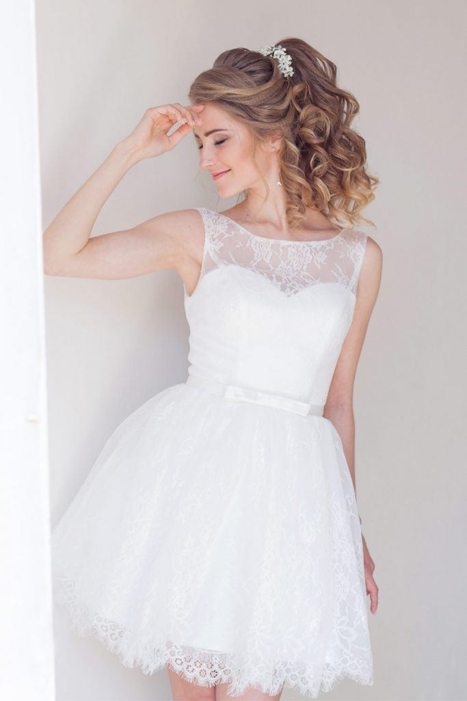 SImple Short Wedding Dress