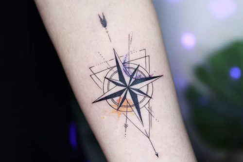 A Guide To Compass Tattoo With Cool Design Ideas