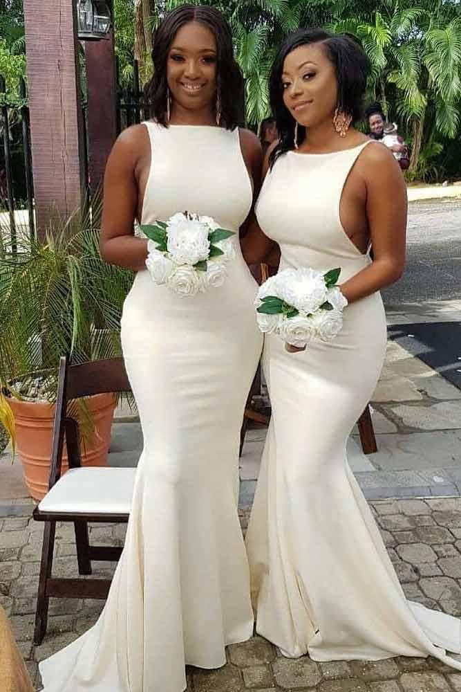 Matching Bridesmaid Dresses #bridesmaiddress #whitedress