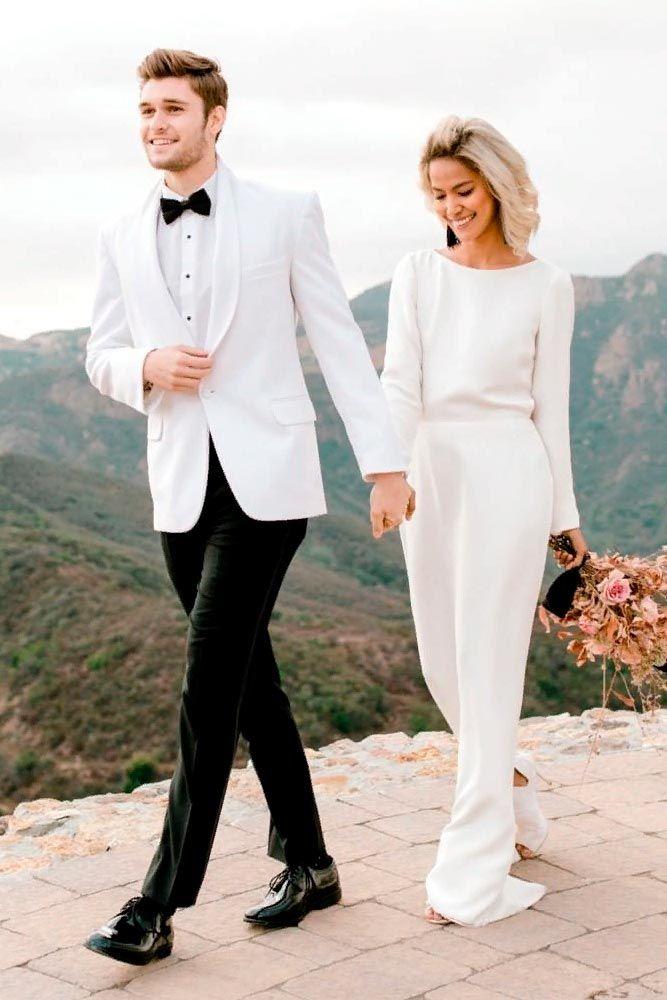 White Tuxedo For Stylish Groom #groomtuxedo #whitetuxedo