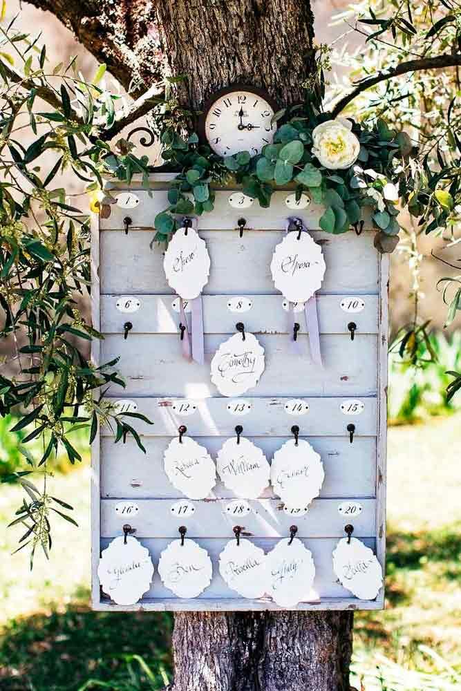 Themed Escort Cards #weddingpla #weddingescortcards