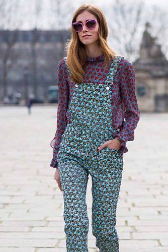 Printed Overalls With Blouse #blouse