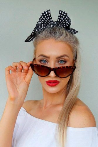 The Chic Bow Hairstyle #ponytailhair #blondehair #longhairstyles