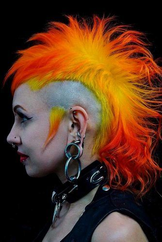 Rad And Punky #mohawkhairstyles #coloredhair