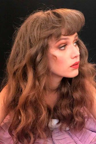 The Sky-High Bangs #wavyhairstyles #banghair #retrohairstyles