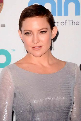 Side Swept Buzz Cut #shorthair #katehudson