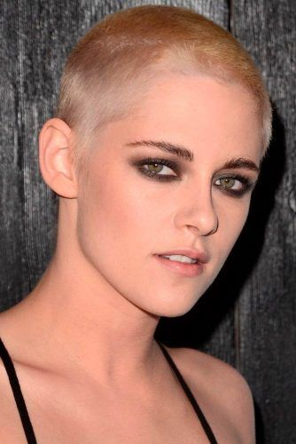 Female Short Buzz Cut #shorthair #shavedhead #kristenstewart