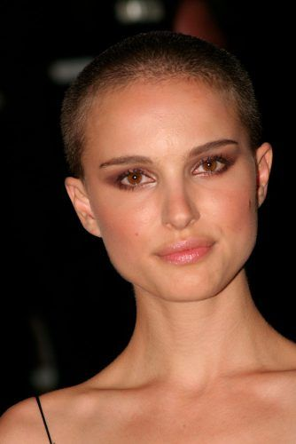 Short Brown Buzz Cut #shavedhead #natalieportman