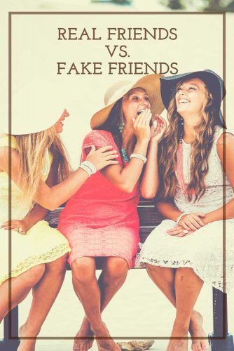 Real Friends Vs. Fake Friends #relationship #friends