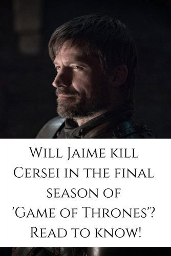 Jamie is going to kill Cersei? #jaimelannister