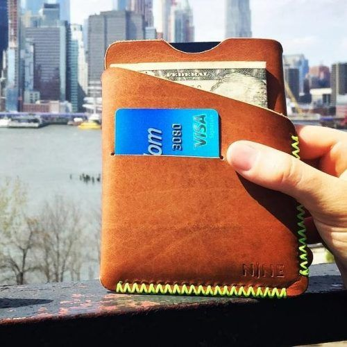 Leather Slim Wallet #walletgiftidea