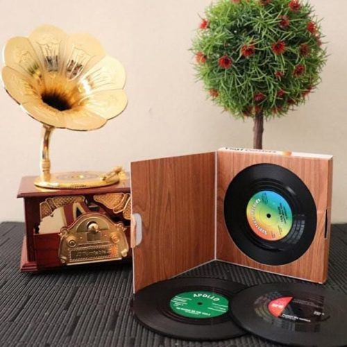 Vintage Record Coasters #uniquegift