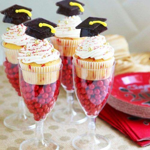 Confetti Graduation Cupcakes #cupcake #confetti