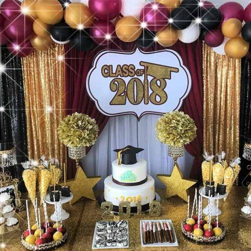 Gold And Black Colors For Candy Table Decor #candytable
