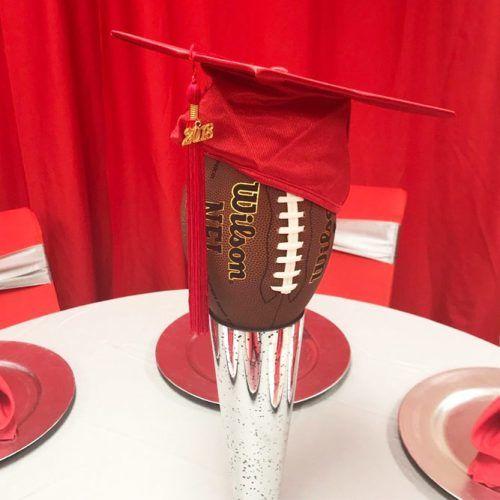 Sport Graduation Centerpiece #sportcenterpiece