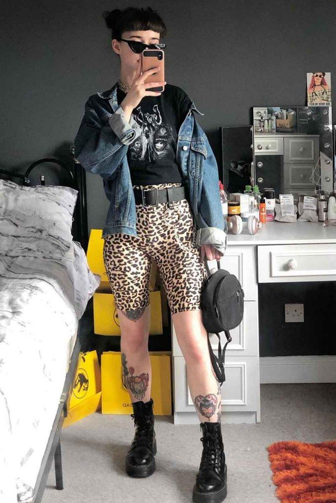 Outfit with Leopard Bike Shorts