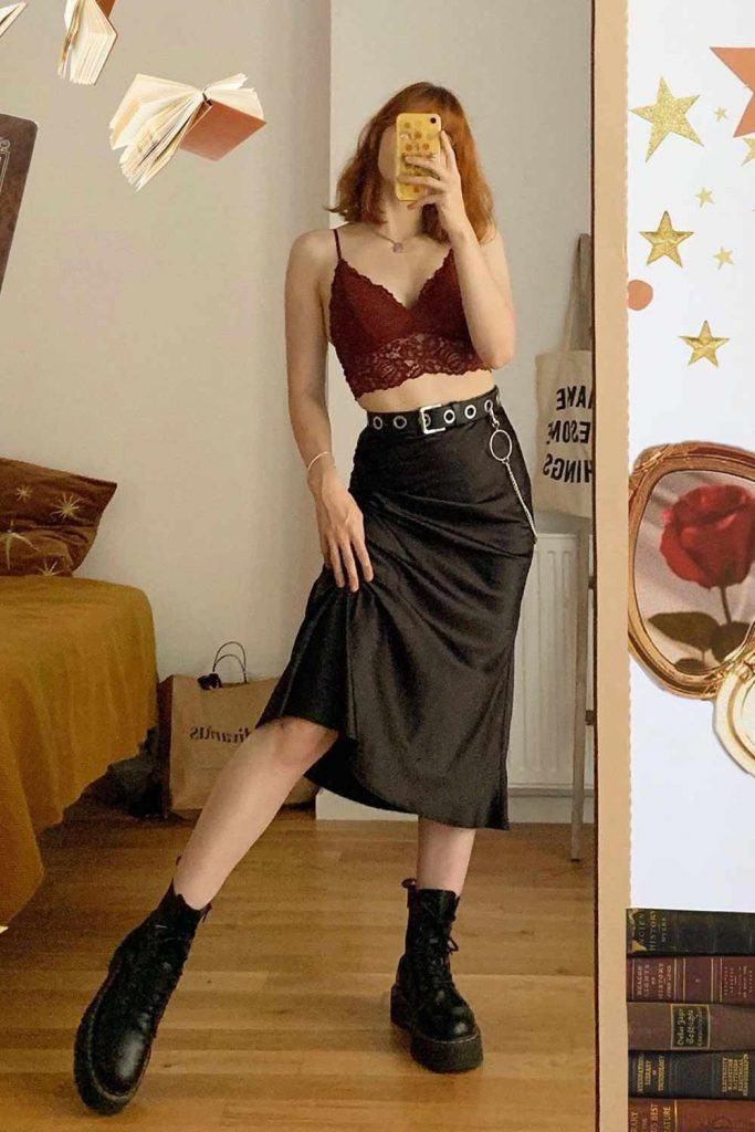 Midi Skirt With Bralette
