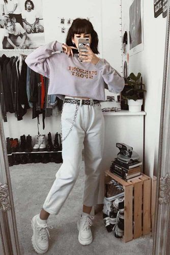 White Jeans With Short Long Sleeve Top #whitejeans